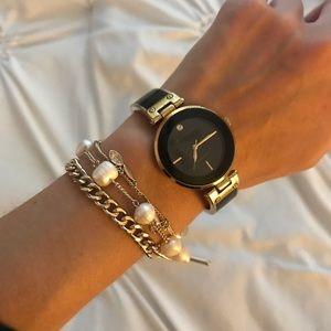Black house White market multi gold chain bracelet